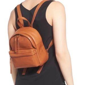 Madewell Mini Lorimer Leather Backpack Brown